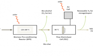 Process overview of biomass reforming system