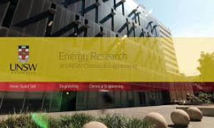 Energy Research at UNSW Chemical Engineering