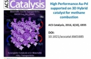 High Performance Au–Pd Supported on 3D Hybrid Strontium-Substituted Lanthanum Manganite Perovskite Catalyst for Methane Combustion