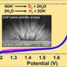 Efficient Water Splitting Catalyzed by Cobalt Phosphide-Based Nanoneedle Arrays Supported on Carbon Cloth