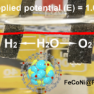 Ultrathin Fe-N-C nanosheets coordinated Fe-doped CoNi alloy nanoparticles for electrochemical water splitting