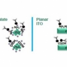 Adsorption of T4 bacteriophages on planar indium tin oxide surface via controlled surface tailoring